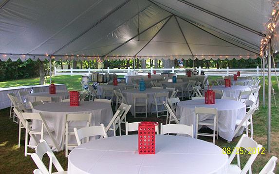 Inside Frame Tent Wedding Table Setting